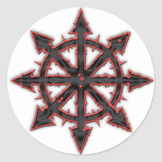 Chaos Classic Round Sticker