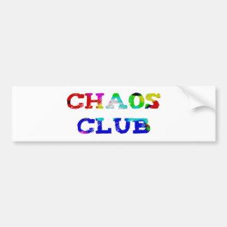 Chaos club bumper sticker