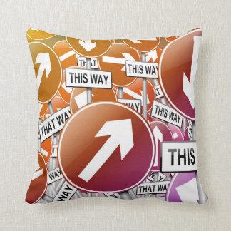 Chaos concept. throw pillow