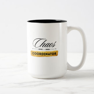 Chaos Coordinator Two-Tone Coffee Mug