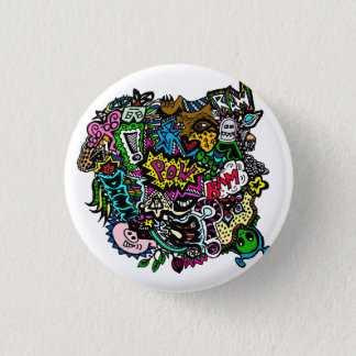 Chaos in colour button badge