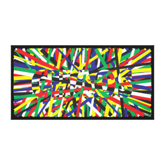 Chaos, in Primaries Canvas Print