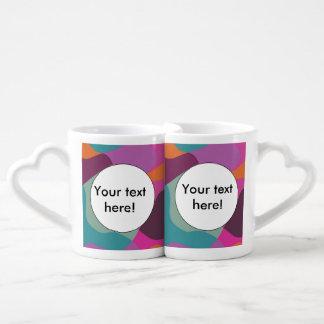 Chaos in retro colors coffee mug set