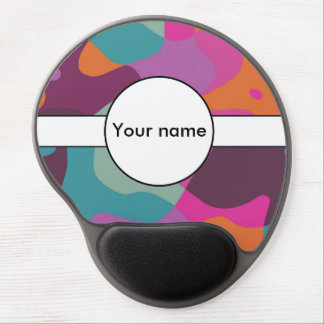 Chaos in retro colors gel mouse pad