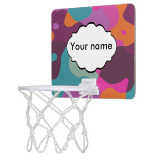 Chaos in retro colors mini basketball hoop