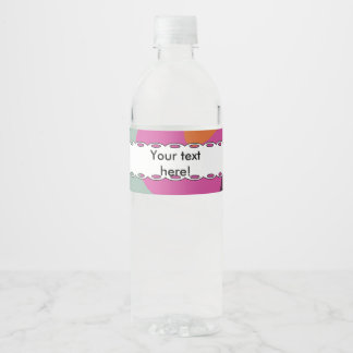 Chaos in retro colors water bottle label
