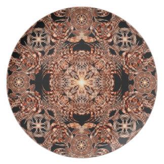 Chaos Mine Mandala Dinner Plates