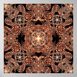 Chaos Mine Mandala Poster