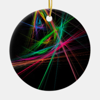 Chaos of rainbow ceramic ornament