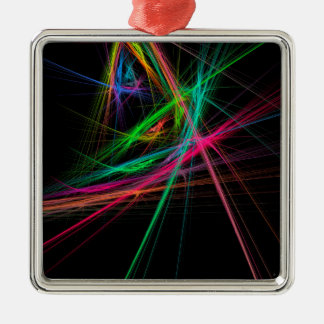 Chaos of rainbow metal ornament