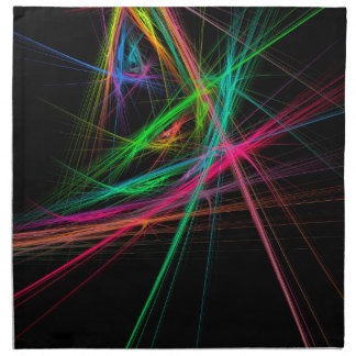 Chaos of rainbow napkin