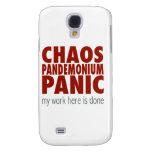 Chaos! Pandemonium! Panic! Samsung Galaxy S4 Cover