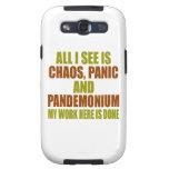 Chaos Panic Pandemonium Samsung Galaxy S3 Cases