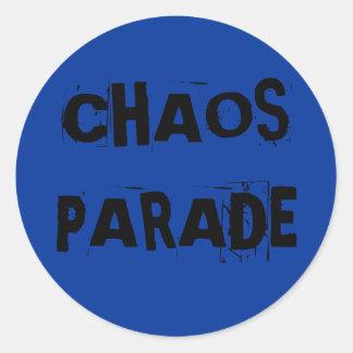 CHAOS PARADE CLASSIC ROUND STICKER