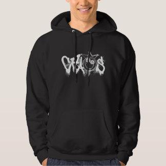 chaos smiley paintdrip hoodie