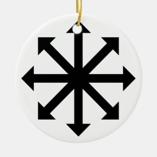 Chaos Star Ceramic Ornament