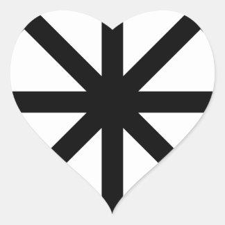 Chaos Star Heart Sticker