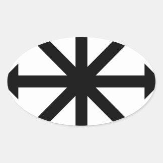 Chaos Star Oval Sticker