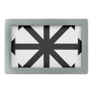 Chaos Star Rectangular Belt Buckle
