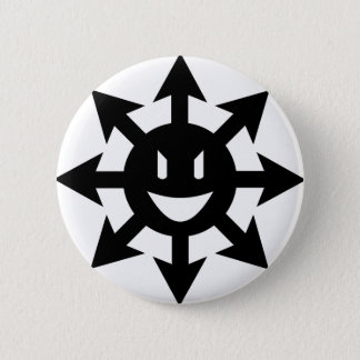 Chaos star smiling 2 inch round button