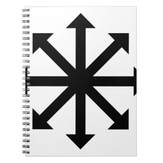 Chaos Star Spiral Notebook
