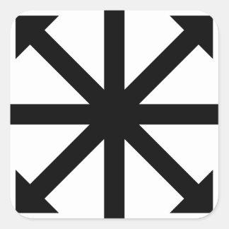 Chaos Star Square Sticker