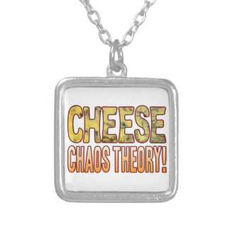 Chaos Theory Blue Cheese Silver Plated Necklace