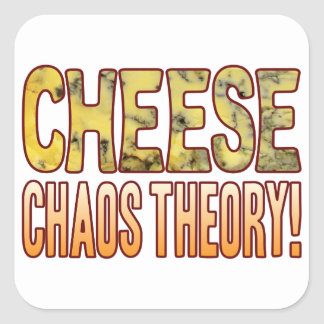Chaos Theory Blue Cheese Square Sticker