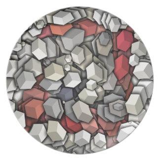 Chaotic 3D Cubes Plate
