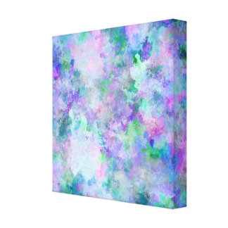 Chaotic Abstract Painting Canvas Print