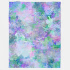 Chaotic Abstract Painting Fleece Blanket