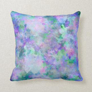 Chaotic Abstract Painting Throw Pillow