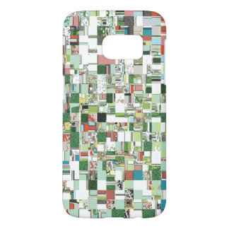 Chaotic Clusters of Green Samsung Galaxy S7 Case