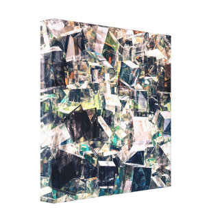 Chaotic Collection of Cubes Canvas Print