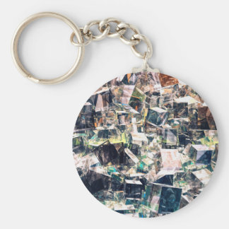 Chaotic Collection of Cubes Keychain
