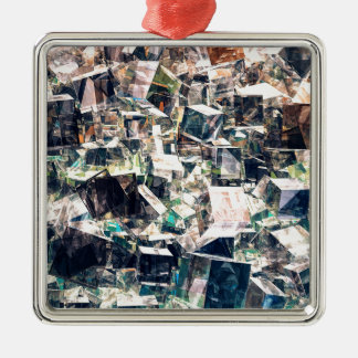 Chaotic Collection of Cubes Metal Ornament