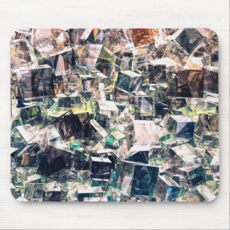 Chaotic Collection of Cubes Mouse Pad
