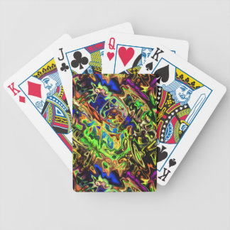 Chaotic Colorful Curves Bicycle Playing Cards