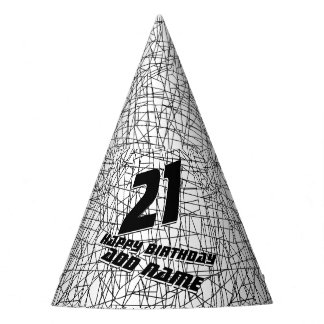 Chaotic lines party hat