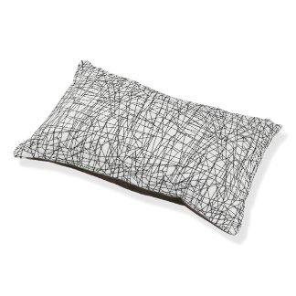 Chaotic lines small dog bed