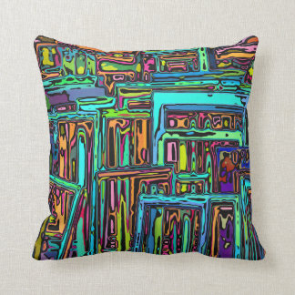 Chaotic Picture Frames Throw Pillow