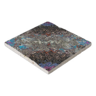 Chaotic Stream of Colors Trivet