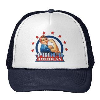 Chapeau américain fier de rivoir de Rosie Casquette De Camionneur