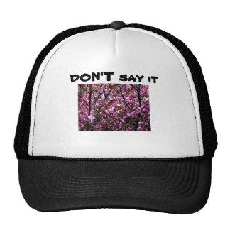Chapeau avec la photo drôle d'énonciation et de casquettes