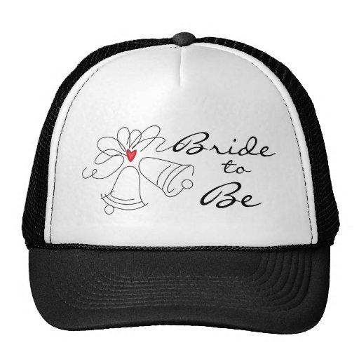 Chapeau blanc de jeune mariée de mariage de noir s casquette