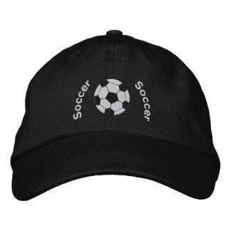 Chapeau brodé par football