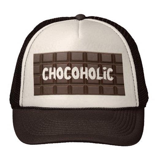 Chapeau d'accro du chocolat de barre de chocolat casquette de camionneur