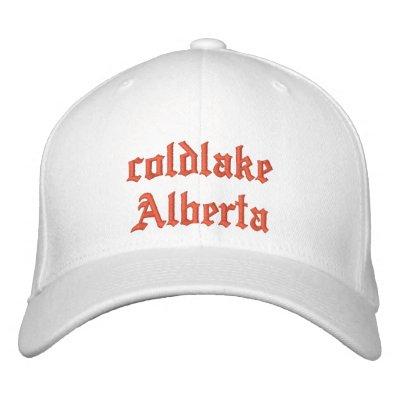 chapeau d'Alberta de coldlake Casquette De Baseball Brodée
