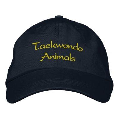 Chapeau d'animaux du Taekwondo Casquette Brodée