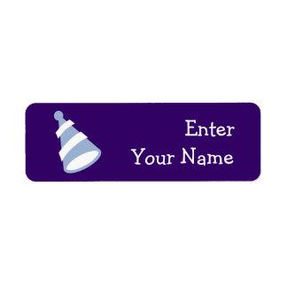 Chapeau d'anniversaire étiquettes d'adresse retour